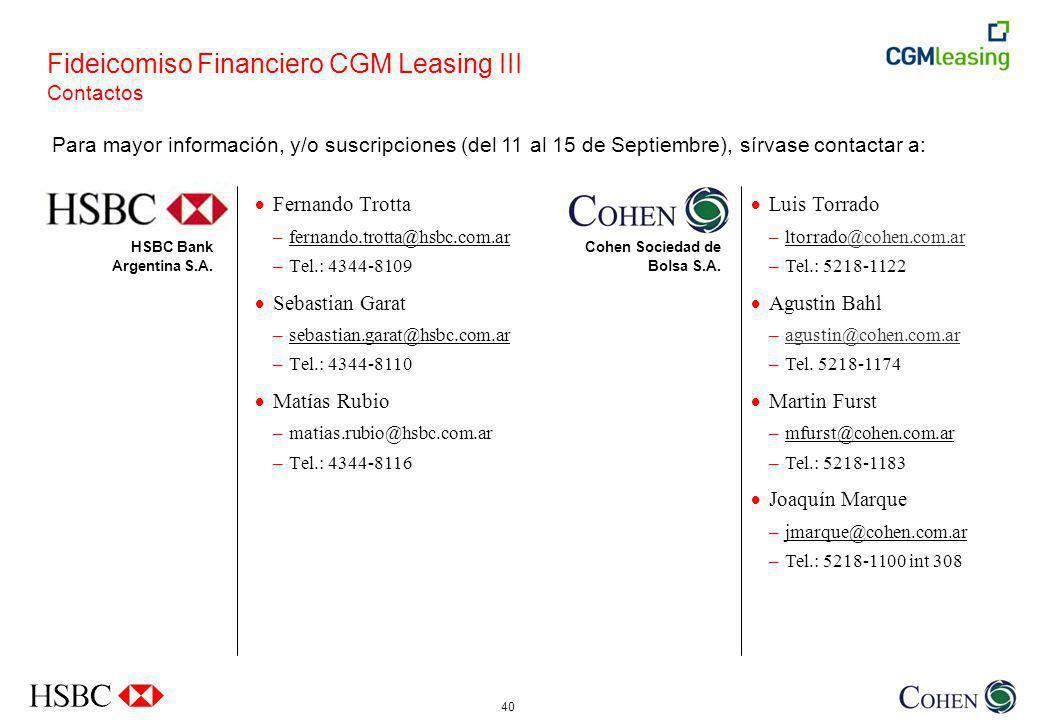 40 HSBC Bank Argentina S.A.