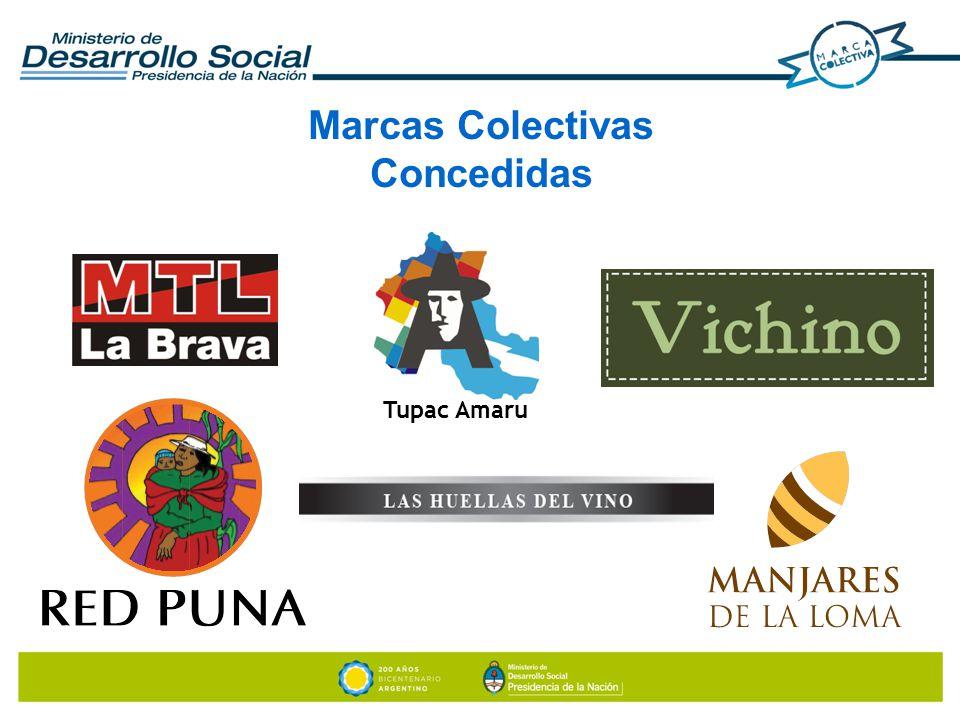 Marcas Colectivas Concedidas Tupac Amaru