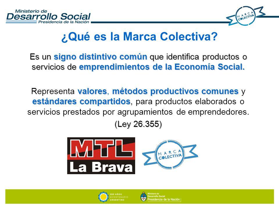 Es un signo distintivo común que identifica productos o servicios de emprendimientos de la Economía Social. valoresmétodos productivos comunes estánda