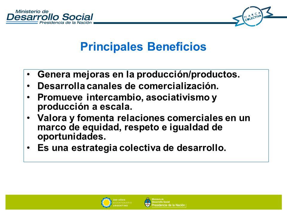 MARCA COLECTIVA ÚNICA: destinada a agrupamientos de emprendedores que comercializan productos y/o servicios.