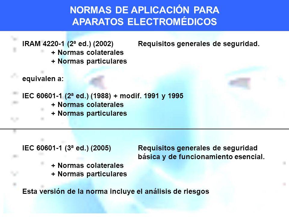 IRAM 4220-1 (2ª ed.) (2002) Requisitos generales de seguridad.
