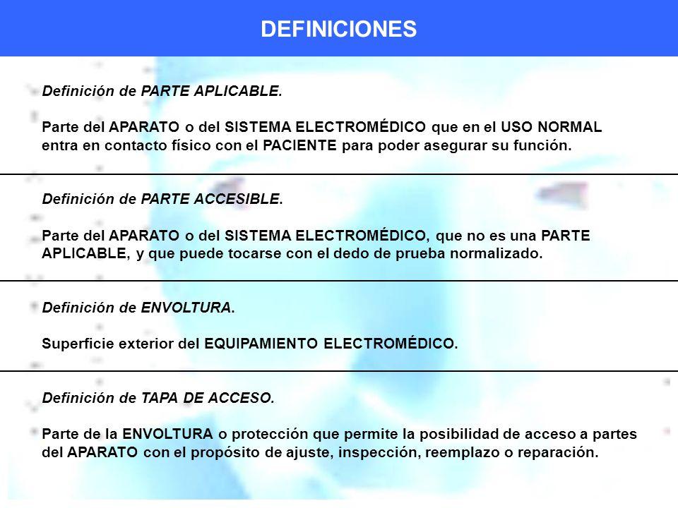 DEFINICIONES Definición de PARTE APLICABLE.