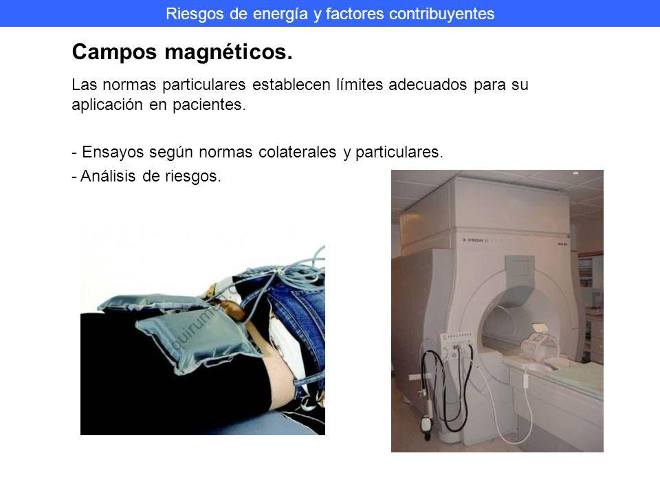 Riesgos de energía y factores contribuyentes Campos magnéticos.