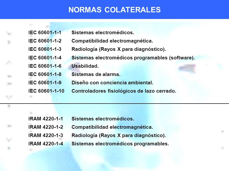 IEC 60601-1-1Sistemas electromédicos.IEC 60601-1-2Compatibilidad electromagnética.