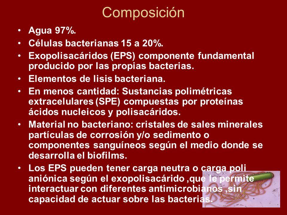 Composición Agua 97%.Células bacterianas 15 a 20%.