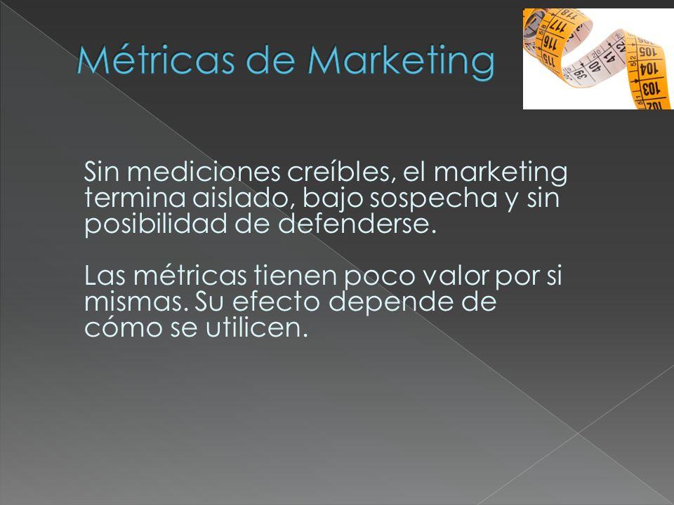 Sin mediciones creíbles, el marketing termina aislado, bajo sospecha y sin posibilidad de defenderse. Las métricas tienen poco valor por si mismas. Su
