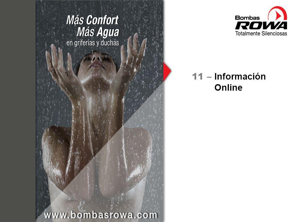 Información ROWA en la web http://www.bombasrowa.com