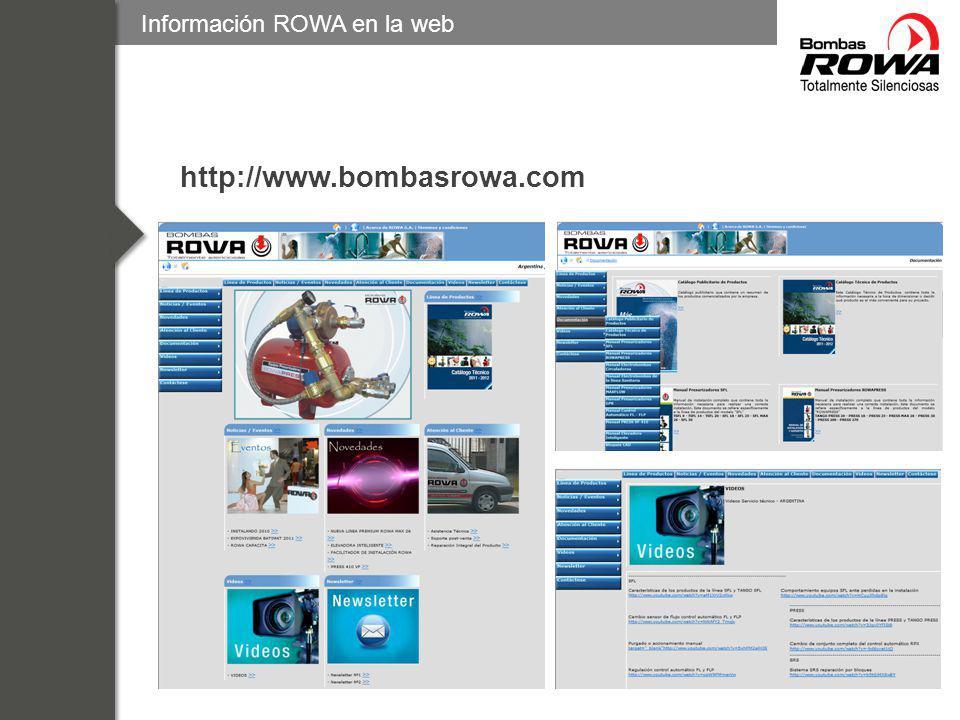12 – Novedades ROWA