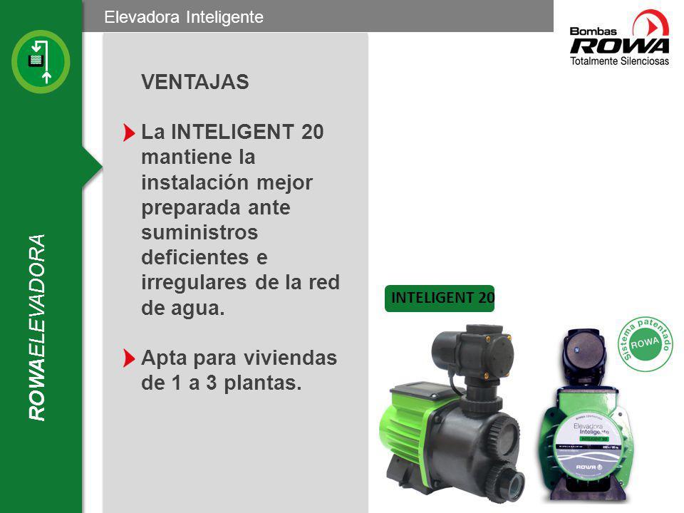 Tanque Cistern a ROWAPRESS Equipo presurizador de Frecuencia Variable ESQUEMA DE INSTALACION: TANQUE ELEVADO Válvula de retención Cañería de succión