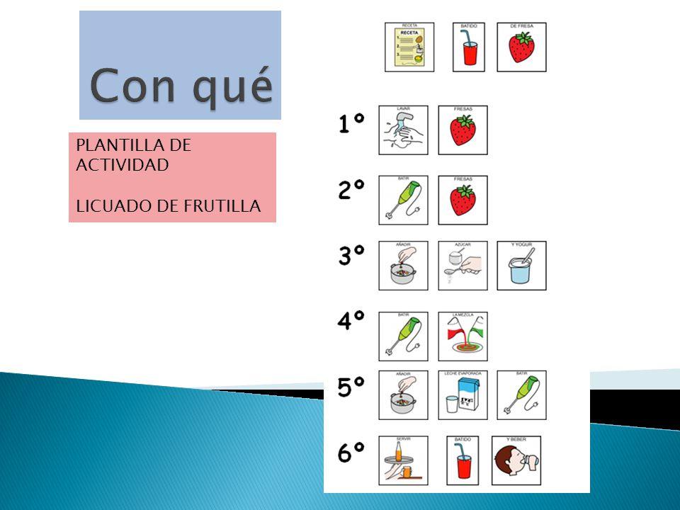 PLANTILLA DE ACTIVIDAD LICUADO DE FRUTILLA