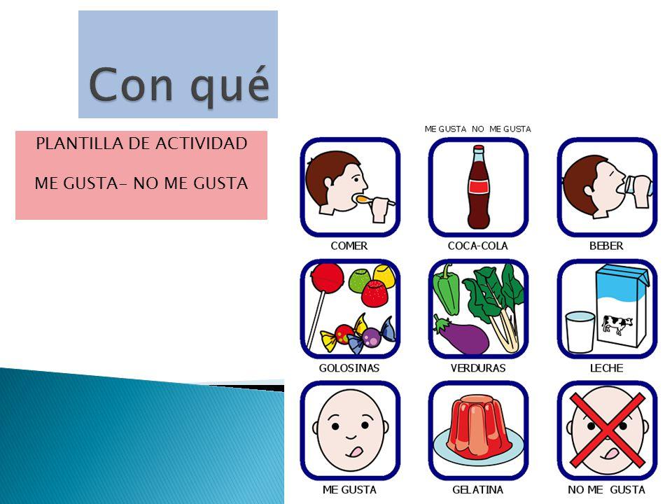 PLANTILLA DE ACTIVIDAD ME GUSTA- NO ME GUSTA