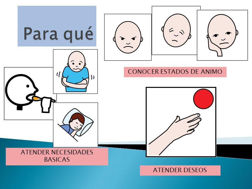 ATENDER NECESIDADES BASICAS CONOCER ESTADOS DE ANIMO ATENDER DESEOS