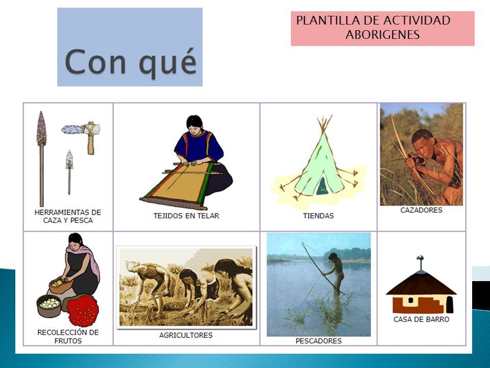 PLANTILLA DE ACTIVIDAD ABORIGENES