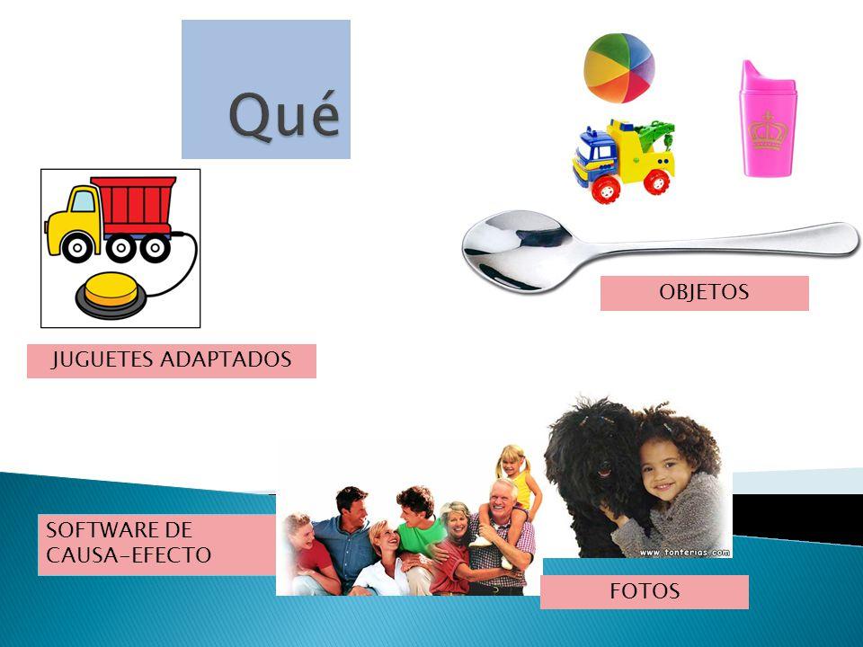 SOFTWARE DE CAUSA-EFECTO OBJETOS JUGUETES ADAPTADOS FOTOS