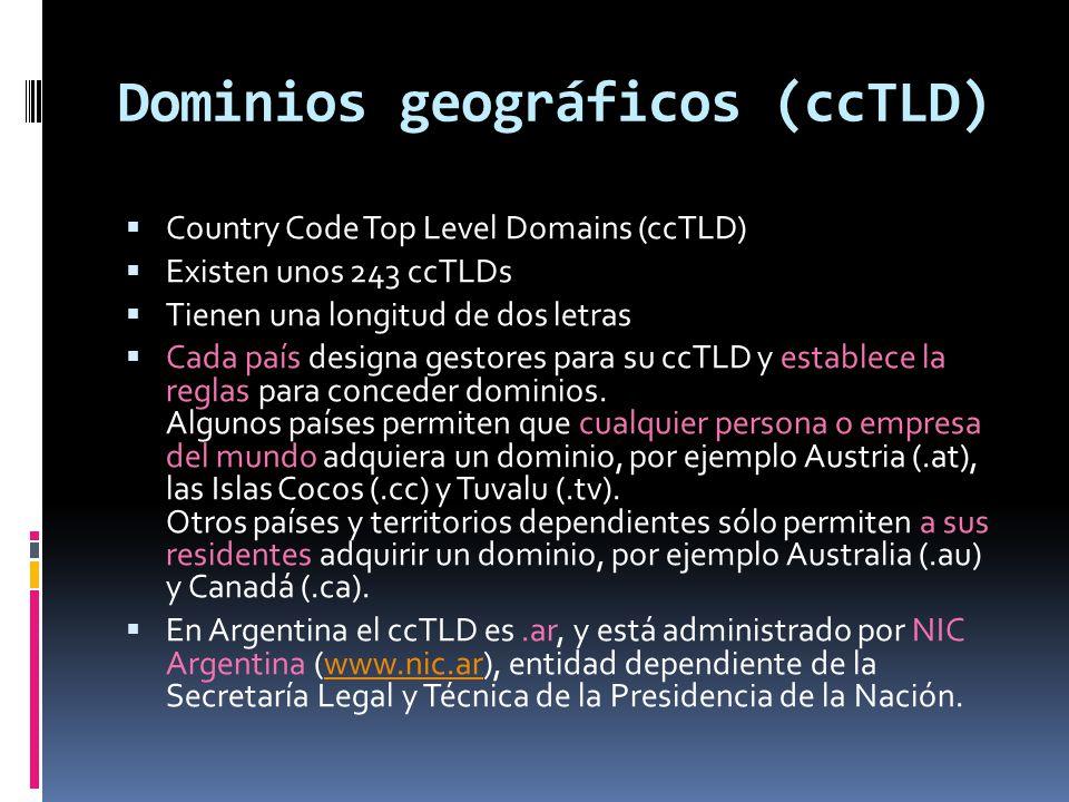 Dominios en Argentina (.ar) Los dominios en Argentina no tienen costo.