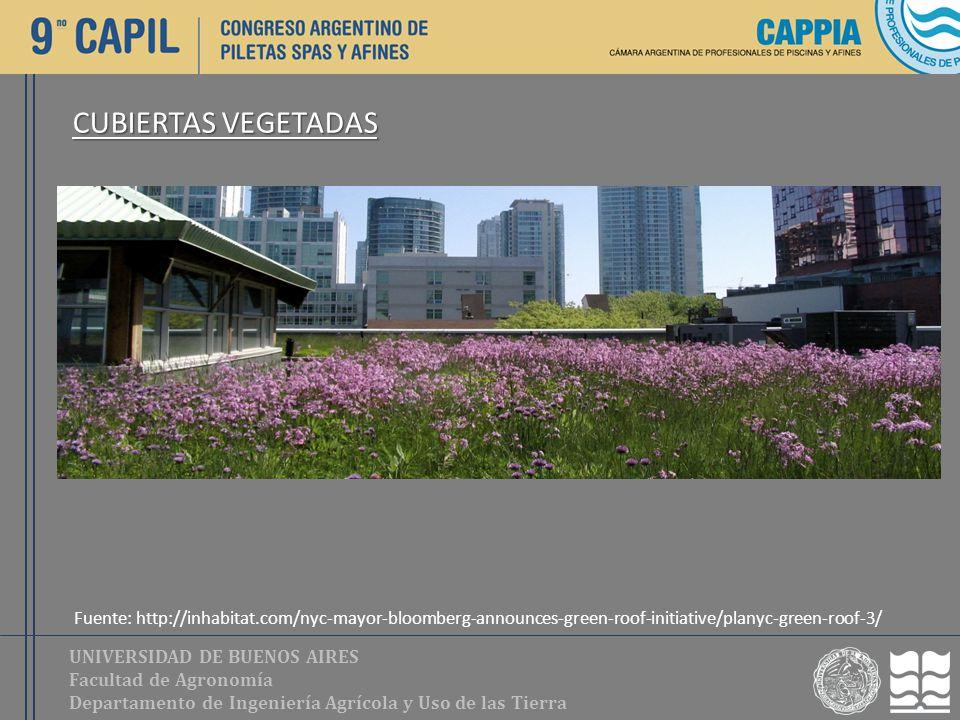 UNIVERSIDAD DE BUENOS AIRES Facultad de Agronomía Departamento de Ingeniería Agrícola y Uso de las Tierra CUBIERTAS VEGETADAS Fuente: http://inhabitat