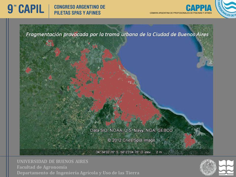 UNIVERSIDAD DE BUENOS AIRES Facultad de Agronomía Departamento de Ingeniería Agrícola y Uso de las Tierra Fragmentación provocada por la trama urbana