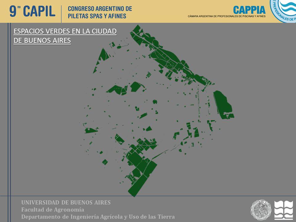 UNIVERSIDAD DE BUENOS AIRES Facultad de Agronomía Departamento de Ingeniería Agrícola y Uso de las Tierra ESPACIOS VERDES EN LA CIUDAD DE BUENOS AIRES
