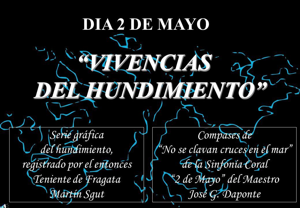 DIA 2 DE MAYO VIVENCIASVIVENCIAS DEL HUNDIMIENTO VIVENCIASVIVENCIAS DEL DEL HUNDIMIENTO Serie gráfica del hundimiento, registrado por el entonces Teni