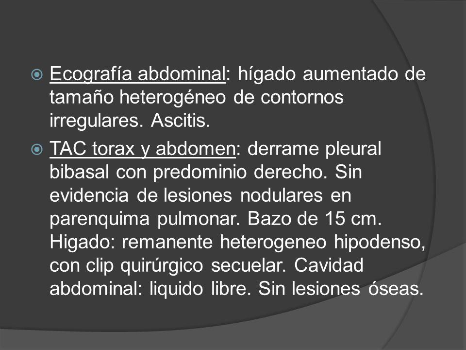 Los pacientes con enfermedad recurrente confinada al hígado la cirugía resectiva es el tratamiento de elección y conlleva una sobrevida del 40% a los 5 años, dependiendo del Criterio de Selección utilizado para la cirugia.