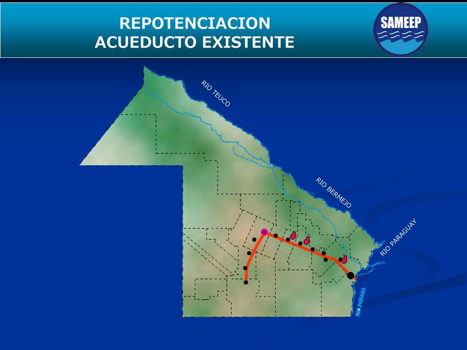 SEGUNDO ACUEDUCTO PARA EL INTERIOR Longitud Inversión: Estado: Beneficiarios ACUEDUCTO EL PINTADO- WICHI-POMPEYA- FUERTE ESPERANZA 84 Km.