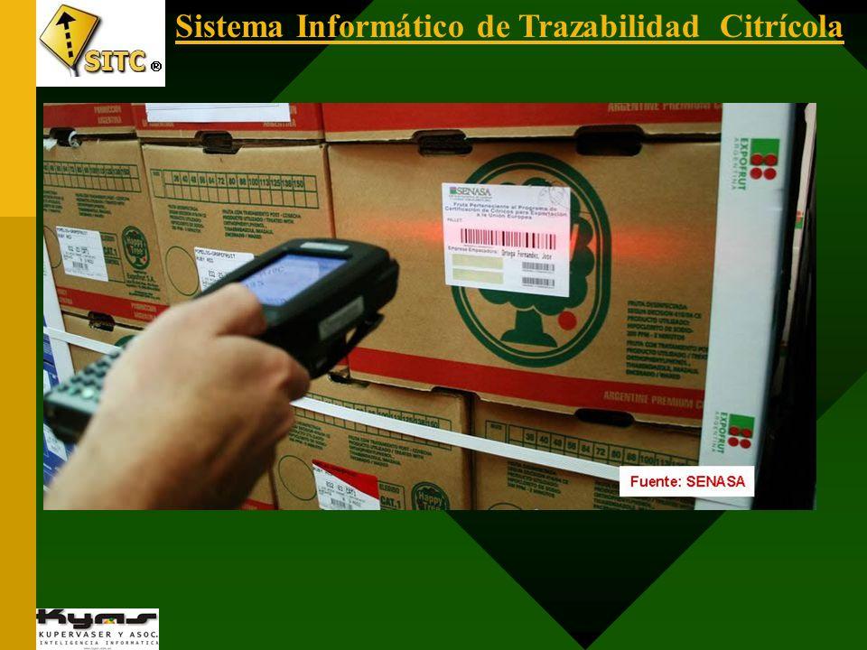 Sistema Informático de Trazabilidad Citrícola SENASA FISCALIZACIÓN EN PUERTOS Utilización de computadores portátiles accediendo al SITC® con vínculo GPRS (acceso a internet utilizando la red de telefonía celular).