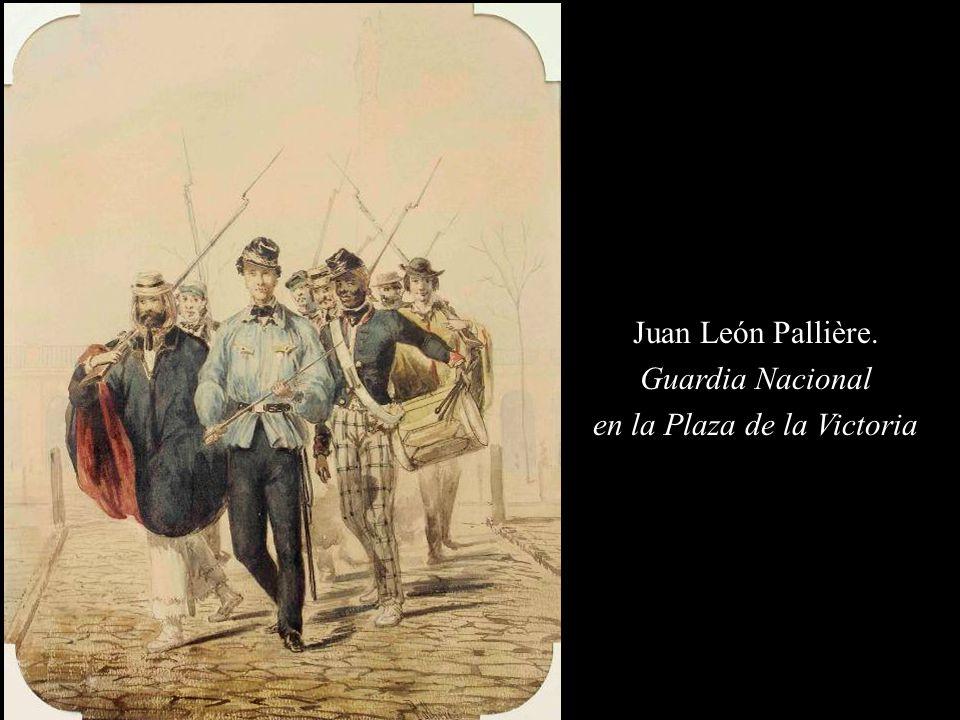 Juan León Pallière. Guardia Nacional en la Plaza de la Victoria