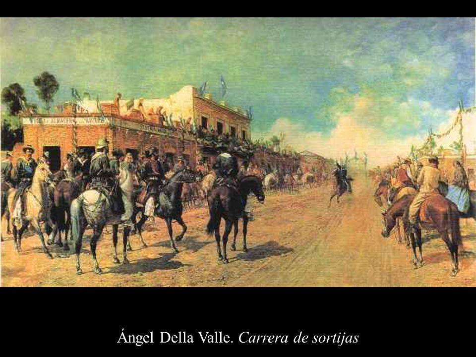 Ángel Della Valle. Carrera de sortijas