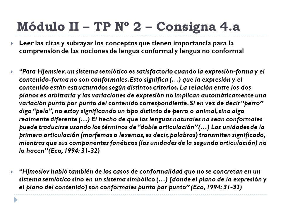 Módulo II – TP Nº 2 – Consigna 4.a Leer las citas y subrayar los conceptos que tienen importancia para la comprensión de las nociones de lengua confor