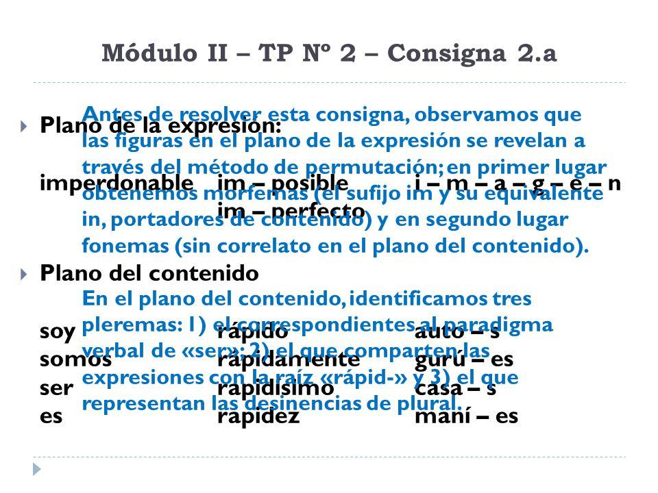 Módulo II – TP Nº 2 – Consigna 4.b Establecer cuáles ejemplos corresponden a una lengua conformal y cuáles a una lengua no conformal.