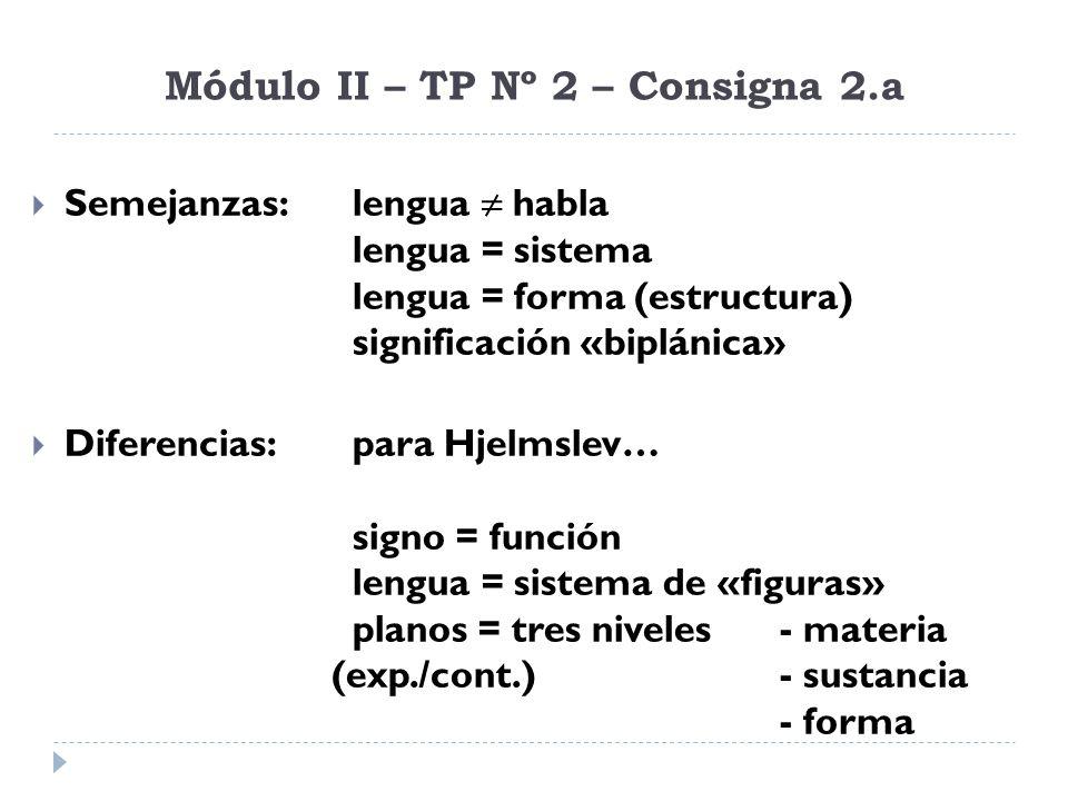 Módulo II – TP Nº 2 – Consigna 4.b Establecer cuáles de los ejemplos corresponden a una lengua conformal y cuáles a una lengua no conformal.