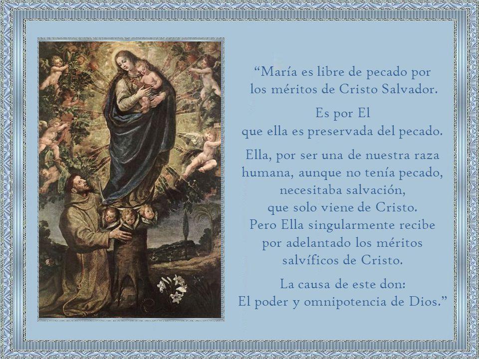 El franciscano Juan Duns Escoto, al principio del siglo XIV, inspirado en algunos teólogos del siglo XII y por el mismo San Francisco, sostuvo que Cristo, el mediador perfecto, realizó precisamente en María el acto de mediación más excelso: Cristo la redimió preservándola del pecado original.