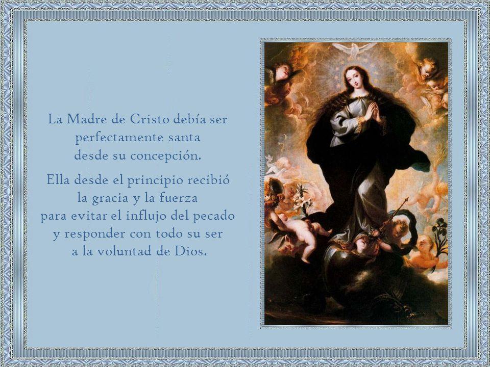Todas las virtudes y las gracias de María Santísima las recibe de Su Hijo.