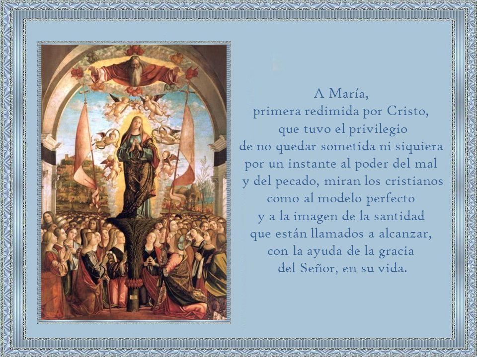 La Madre de Cristo debía ser perfectamente santa desde su concepción.