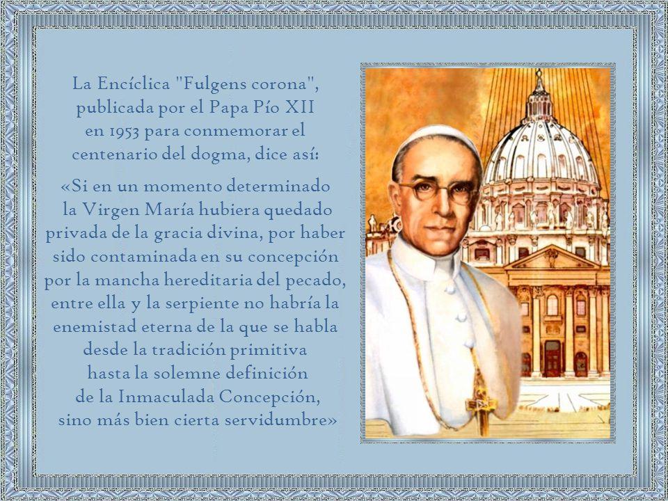 Cuando hablamos del dogma de la Inmaculada Concepción no nos referimos a la concepción de Jesús quién, claro está, también fue concebido sin pecado.