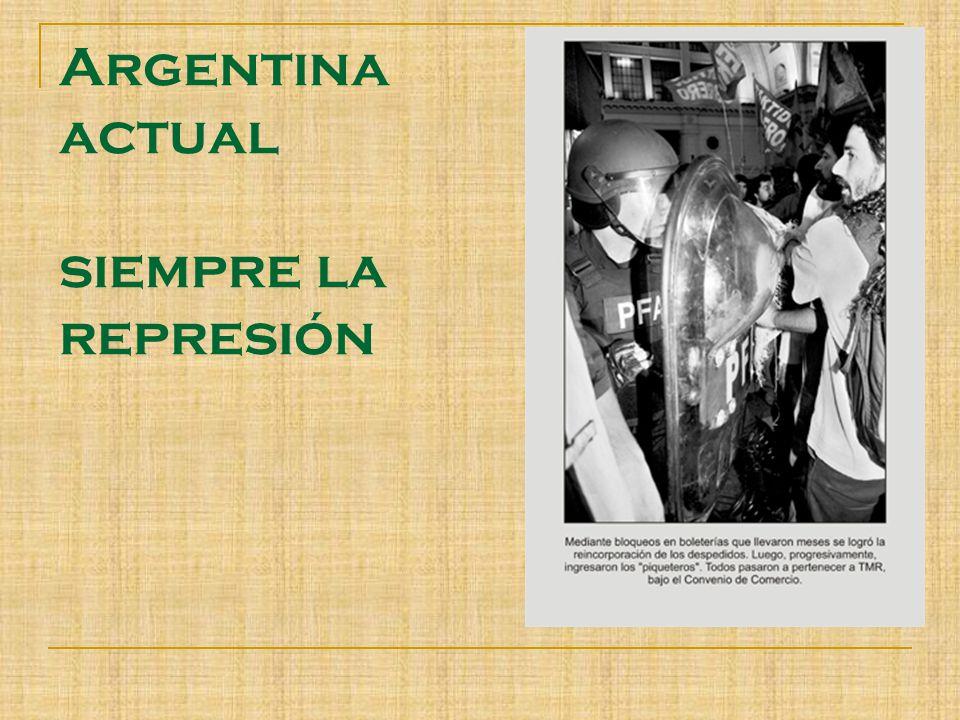 Argentina actual siempre la represión