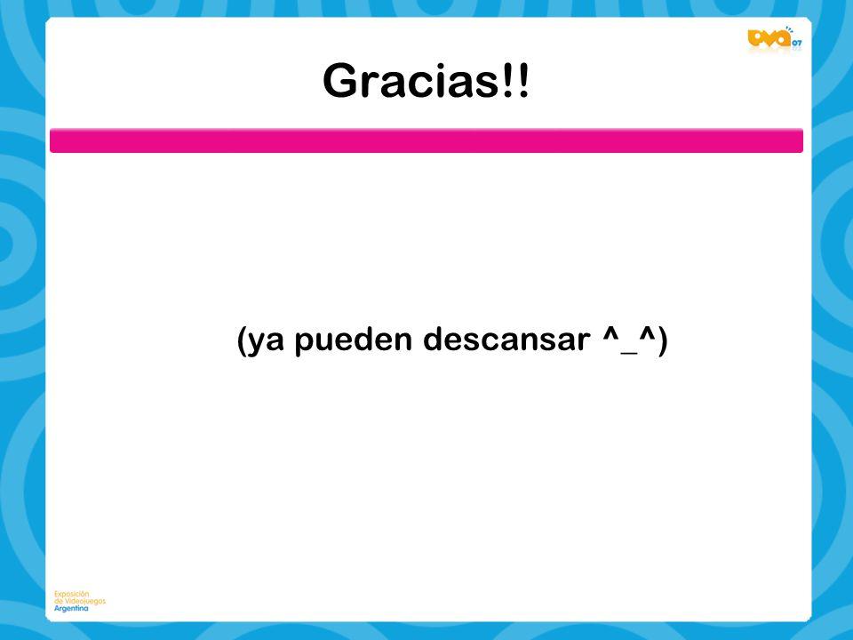 Gracias!! (ya pueden descansar ^_^)
