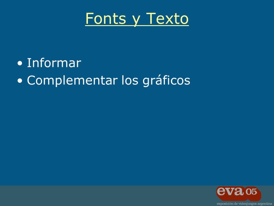 Informar Complementar los gráficos Fonts y Texto