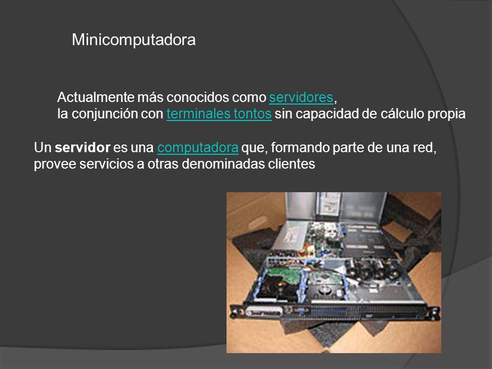 Un servidor es una computadora que, formando parte de una red,computadora provee servicios a otras denominadas clientes Actualmente más conocidos como