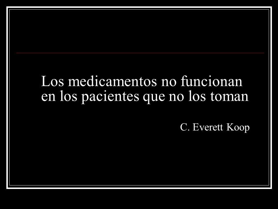 Los medicamentos no funcionan en los pacientes que no los toman C. Everett Koop