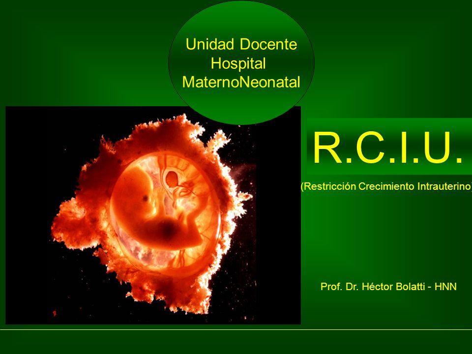 R.C.I.U. Unidad Docente Hospital MaternoNeonatal Prof. Dr. Héctor Bolatti - HNN (Restricción Crecimiento Intrauterino)