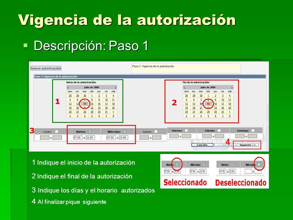 Visualización de las personas que integran su grupo Descripción: Paso 2 1 Seleccione su nombre 2 Vera sus datos personales 3 indique que debe hacer el guardia 4 Puede adjuntar un archivo