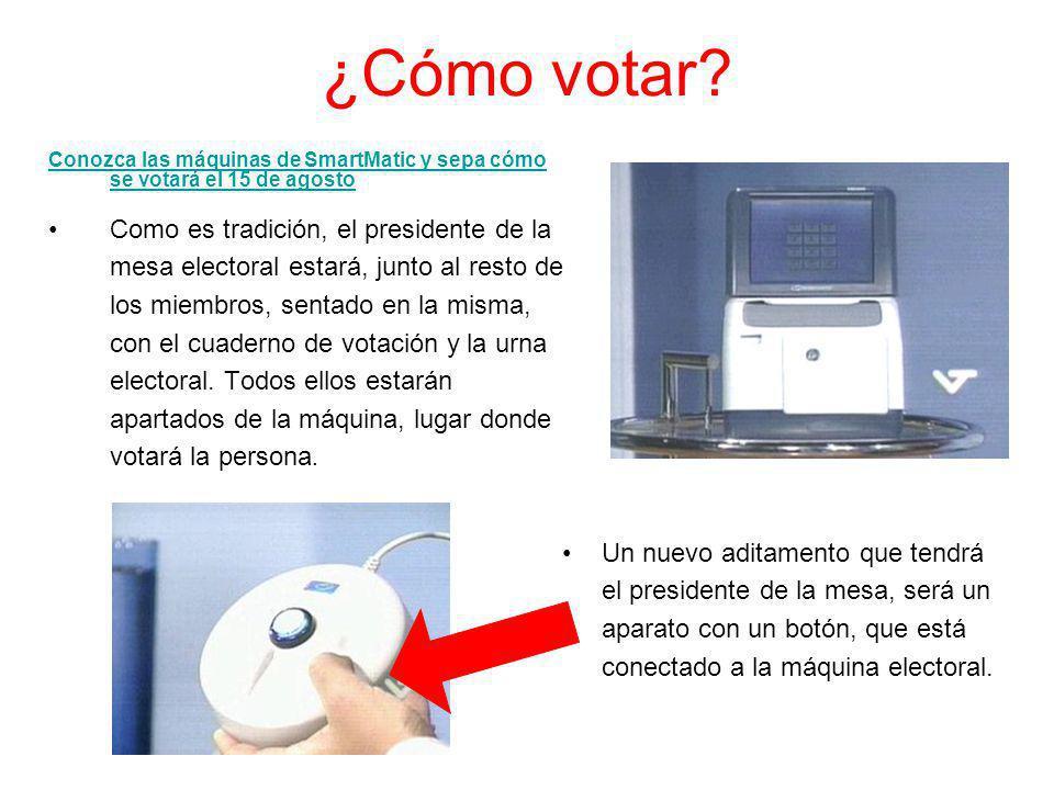 ¿Cómo votar? Como es tradición, el presidente de la mesa electoral estará, junto al resto de los miembros, sentado en la misma, con el cuaderno de vot