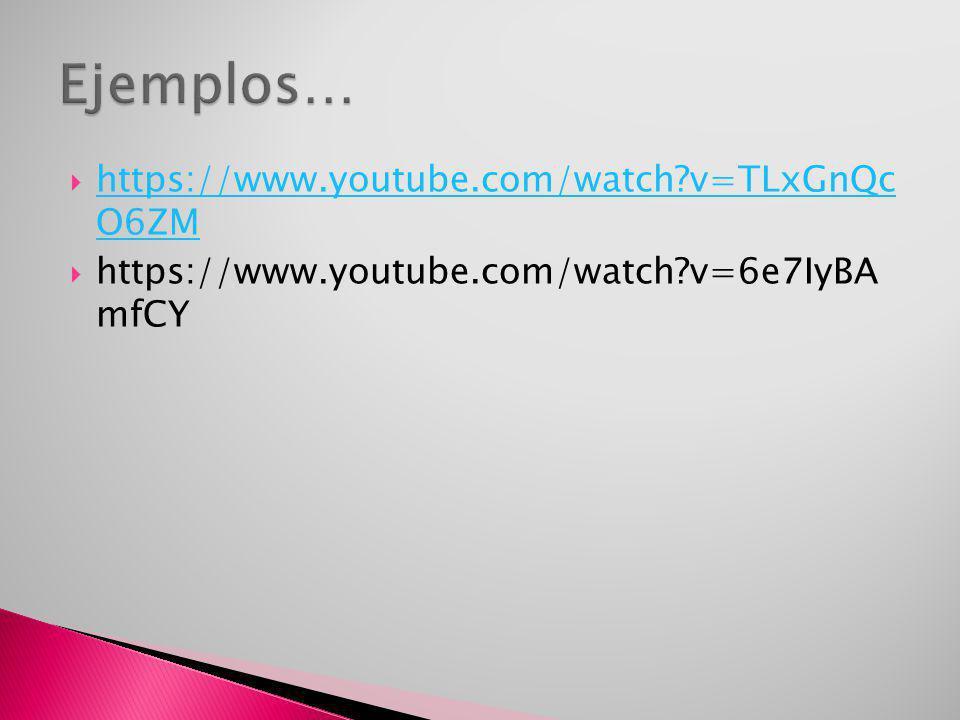 https://www.youtube.com/watch?v=TLxGnQc O6ZM https://www.youtube.com/watch?v=TLxGnQc O6ZM https://www.youtube.com/watch?v=6e7IyBA mfCY