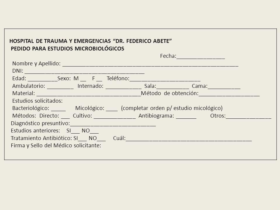 HOSPITAL DE TRAUMA Y EMERGENCIAS DR.