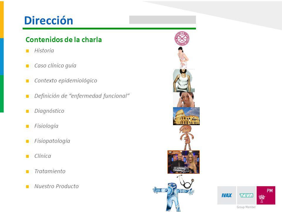 Historia Caso clínico guía Contexto epidemiológico Definición de enfermedad funcional Diagnóstico Fisiología Fisiopatología Clínica Tratamiento Nuestr