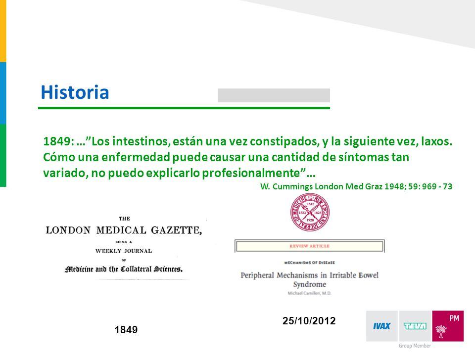 1849: …Los intestinos, están una vez constipados, y la siguiente vez, laxos. Cómo una enfermedad puede causar una cantidad de síntomas tan variado, no