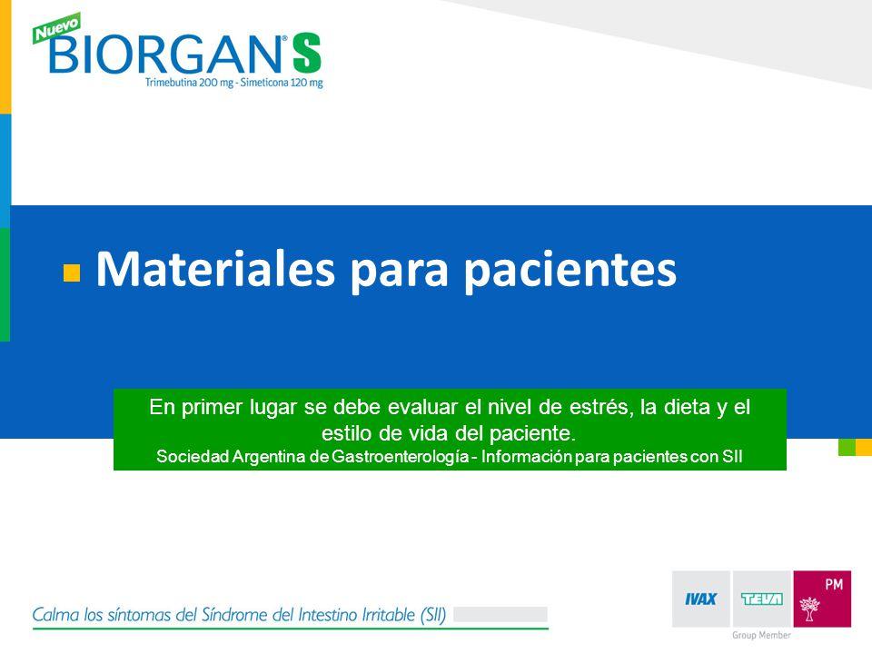 Materiales para pacientes En primer lugar se debe evaluar el nivel de estrés, la dieta y el estilo de vida del paciente. Sociedad Argentina de Gastroe