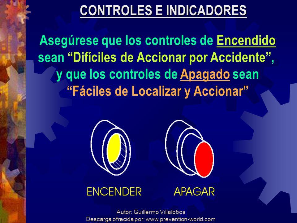 Autor: Guillermo Villalobos Descarga ofrecida por: www.prevention-world.com CONTROLES E INDICADORES Asegúrese que los controles de Encendido sean Difí