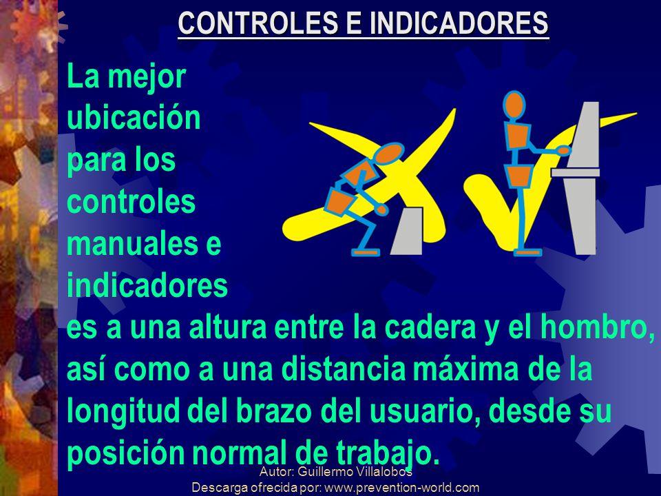 Autor: Guillermo Villalobos Descarga ofrecida por: www.prevention-world.com CONTROLES E INDICADORES La mejor ubicación para los controles manuales e i